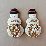 Dekorácie - Medovnikovy snehuliak veľký s malým  - 11373770_