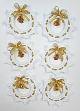 Dekorácie - Zlatobiele Vianoce - 11373036_