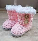 Topánočky - Ružové čižmičky - 11373095_