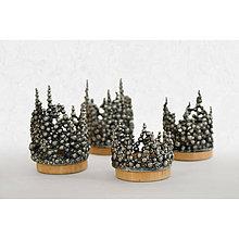 Svietidlá a sviečky - Sada cínových svietnikov - 4 kusy - adventná/vianočná dekorácia - 11370540_