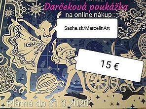 Darčekové poukážky - Darčeková poukážka -  15€ (poštovné na tovar zdarma) - 11370081_