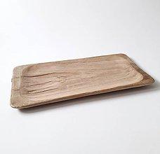 Nádoby - Podlhovastá misa dubová 58 cm - 11371019_