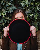 klobúk čierny FRAME