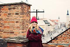 Čiapky - klobúková čiapka CLOCHE FOLIE s brmbolcom - 11374249_