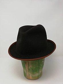 Čiapky - Pánsky tmavohnedý klobúk FRAME - 11374229_