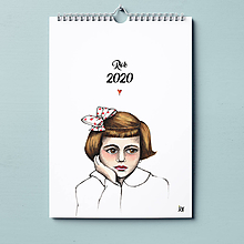 Papiernictvo - Kalendár retro 2020. - 11371417_