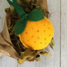 Dekorácie - Vianočná ozdoba pomaranč - 11371493_