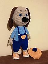Hračky - Háčkovaný psík -umelec - 11373790_
