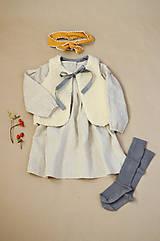 Detské oblečenie - Šaty IDA prírodné - 11370962_