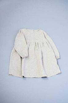 Detské oblečenie - Šaty IDA prírodné - 11370959_