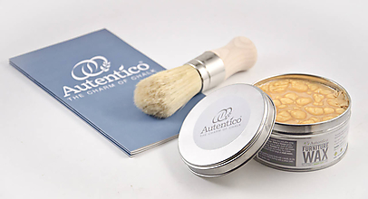 Farby-laky - Zlatý metalický vosk Autentico - 11371348_