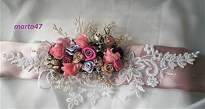 Opasky - Kvetinový opasok - 11373137_