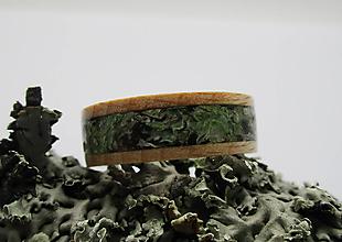 Prstene - Drevený prsteň - Lichenia II. - 11371638_