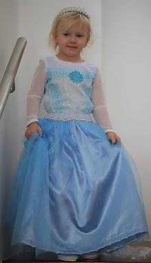 Detské oblečenie - Princeznovské šaty ELSA - 11372006_