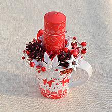 Dekorácie - Vianočný svietnik - 11370346_
