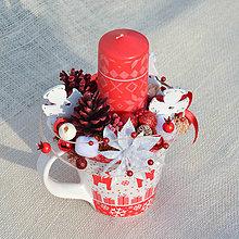 Dekorácie - Vianočný svietnik s anjelikmi - 11370509_
