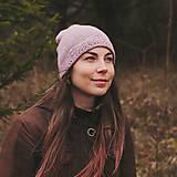 Čiapky - čiapka s lemom - svetlá lila - 11372708_