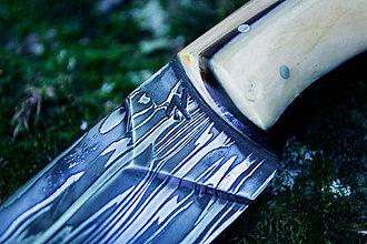 Nože - Damaškový nôž s mamutovinou - 11373167_