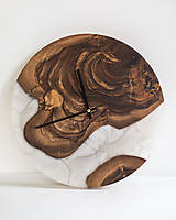 Hodiny - Živicové hodiny z teakového dreva Brown-eyed Lady - 11373934_