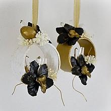 Dekorácie - Luxusné Vianoce - sada 3 ks dekorácií na zavesenie - 11370750_