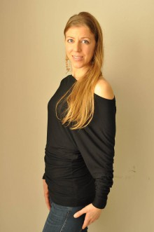 Tričká - Asymetrické tričko (38 - Čierna) - 11371427_