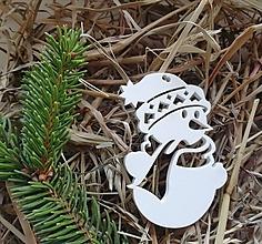 Dekorácie - Snehuliak - vianočná ozdoba - 11372635_