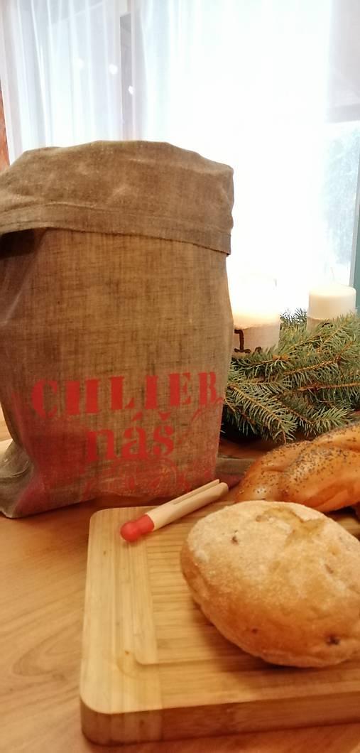 ChleBag - Ľanové voskované vrecko na chlieb/pečivo