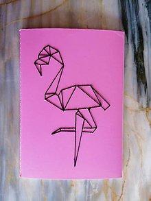 """Knihy - Vyšívaný zápisník """"Flamengo"""" - 11374176_"""