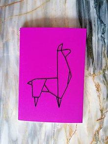 "Knihy - Vyšívaný zápisník ""Lama"" - 11374212_"