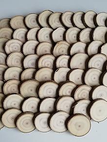 Materiál ručne robený - Drevené plátky okrúhle - priemer 3,5 - 4 cm - 11371606_