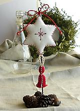 Dekorácie - Vianočná hviezda so stojanom - 11373186_