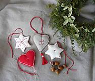 Dekorácie - Vianočné srdce a hviezda - 11373230_