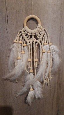 Dekorácie - Makramé lapač..anjelské krídla - 11371069_