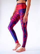 Nohavice - Yoga Leggings PURPLE BIRD - 11373900_