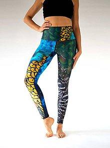 Nohavice - Yoga Leggings PFAU - 11373967_