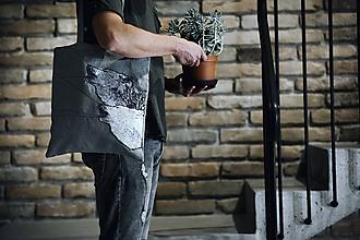 Kabelky - VLCI / ľanová taška / originálny dizajn - 11374104_