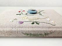 Papiernictvo - Vyšívaný zápisník Letné kvety a plody - A6 - 11370821_