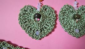 Sady šperkov - Háčkovaná súprava šperkov opalit - 11372864_