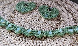 Sady šperkov - Háčkovaná súprava šperkov opalit - 11372865_