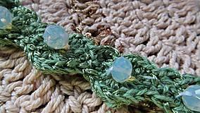 Sady šperkov - Háčkovaná súprava šperkov opalit - 11372867_