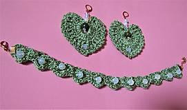 Sady šperkov - Háčkovaná súprava šperkov opalit - 11372874_