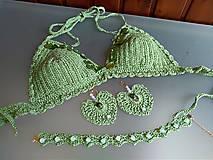 Sady šperkov - Háčkovaná súprava šperkov opalit - 11372879_