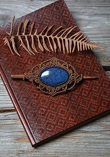 Ozdoby do vlasov - Spona do vlasov s kameňom Dumortierit •Modro modrá• - 11371283_