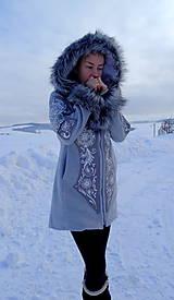 Kabáty - Ručne maľovaný kabát - 11371643_