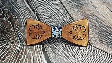 Doplnky - Pánsky drevený motýlik FOLK - 11370960_