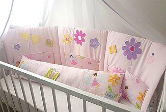 Textil - Vreckár na stenu pre postel Ikea 45x160cm+ vankúš 23x80 - 11377235_