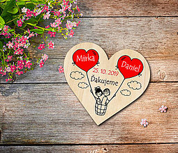 Darčeky pre svadobčanov - Svadobná magnetka - 11376227_