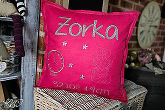 """Úžitkový textil - Vankúšik pre novorodenca """"Zorka"""" - 11377288_"""