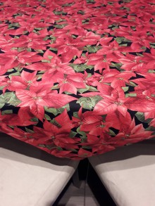 Úžitkový textil - Obrus - Vianočná ruža - 11376262_