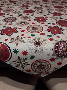 Úžitkový textil - Vianočný obrus biely - 11376374_